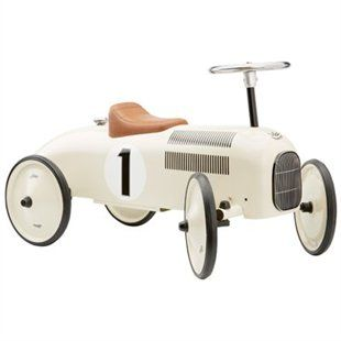 pearly white metal car by vilac ride ons push toys gifts chapters