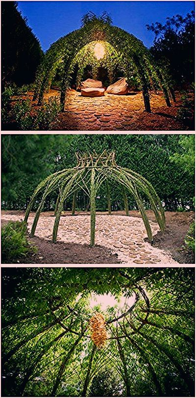 Living Willow Garden Decor Structure - 1001 Gardens