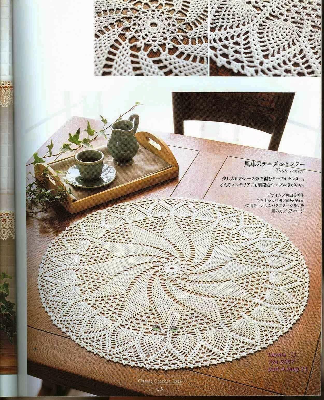 PATRONES GRATIS DE CROCHET: Patrón bello tapete, centro de mesa o ...