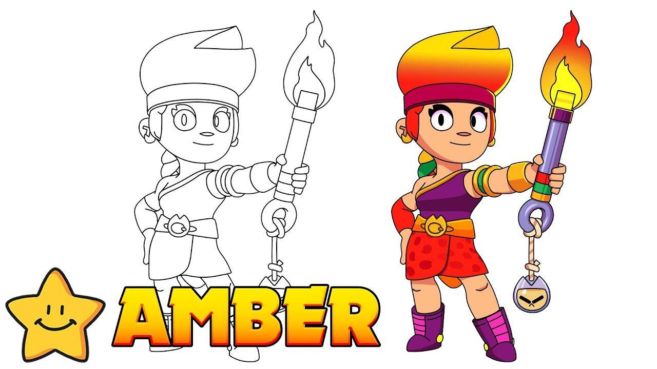 How To Draw Amber Brawl Stars New Brawler Brawl Amber Stars