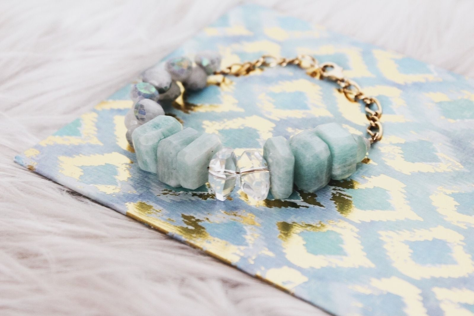 Sea-colored beauty in our Elin bracelet | www.charmesilkiner.com #aotd #palmcanyon #crystal