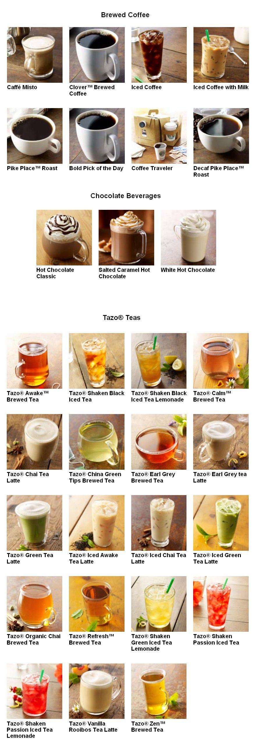 Starbucks menu #2