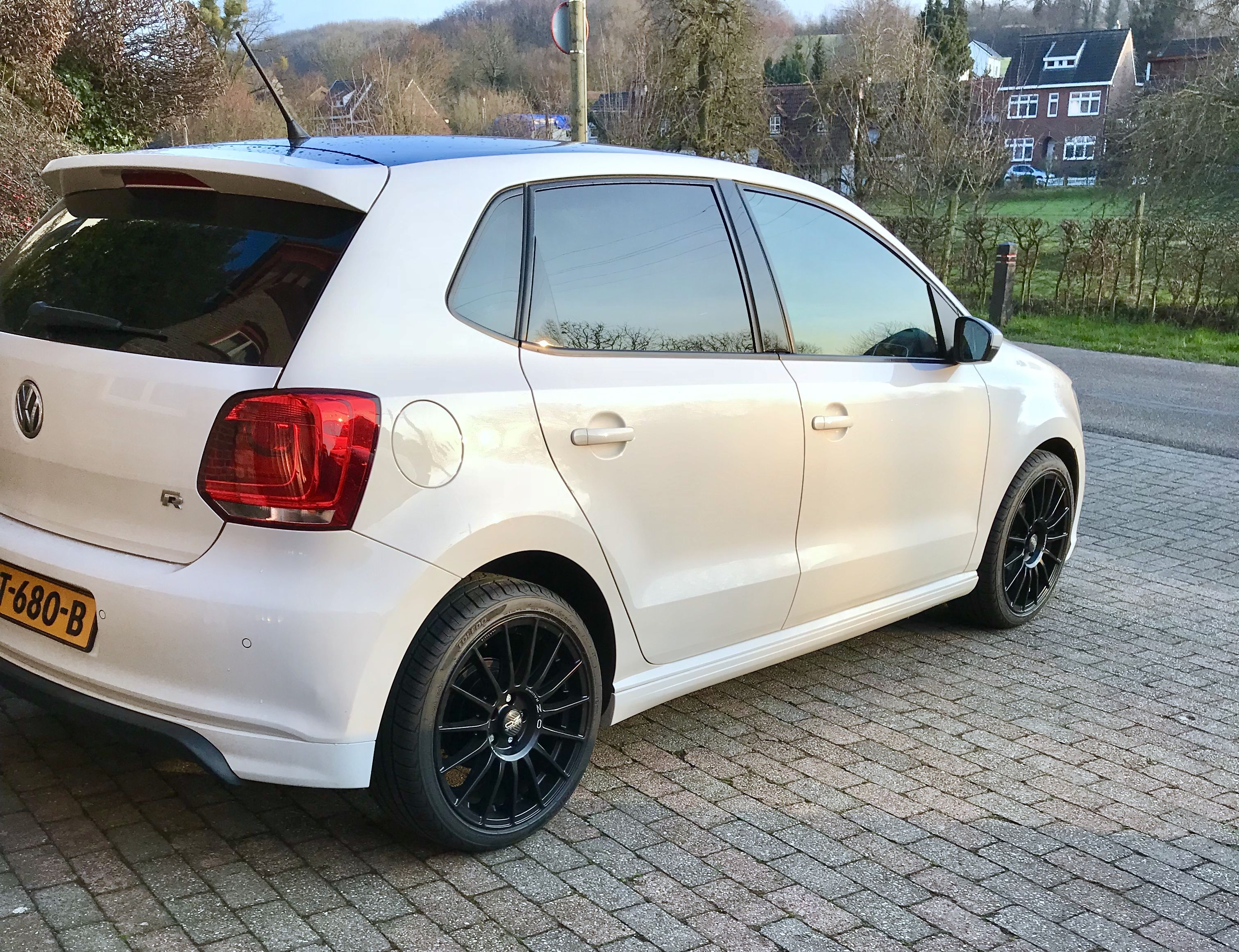 Volkswagen Polo R With Oz Superturismo Lm Matt Black Rims Oz