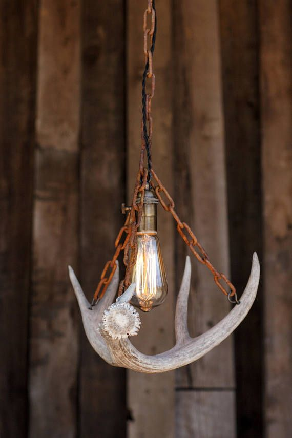 The durango chandelier antler pendant light rustic chain antler the durango chandelier antler pendant light rustic chain antler shed lamp hanging ceiling lighting fixture edison bulb pinterest cuerno aloadofball