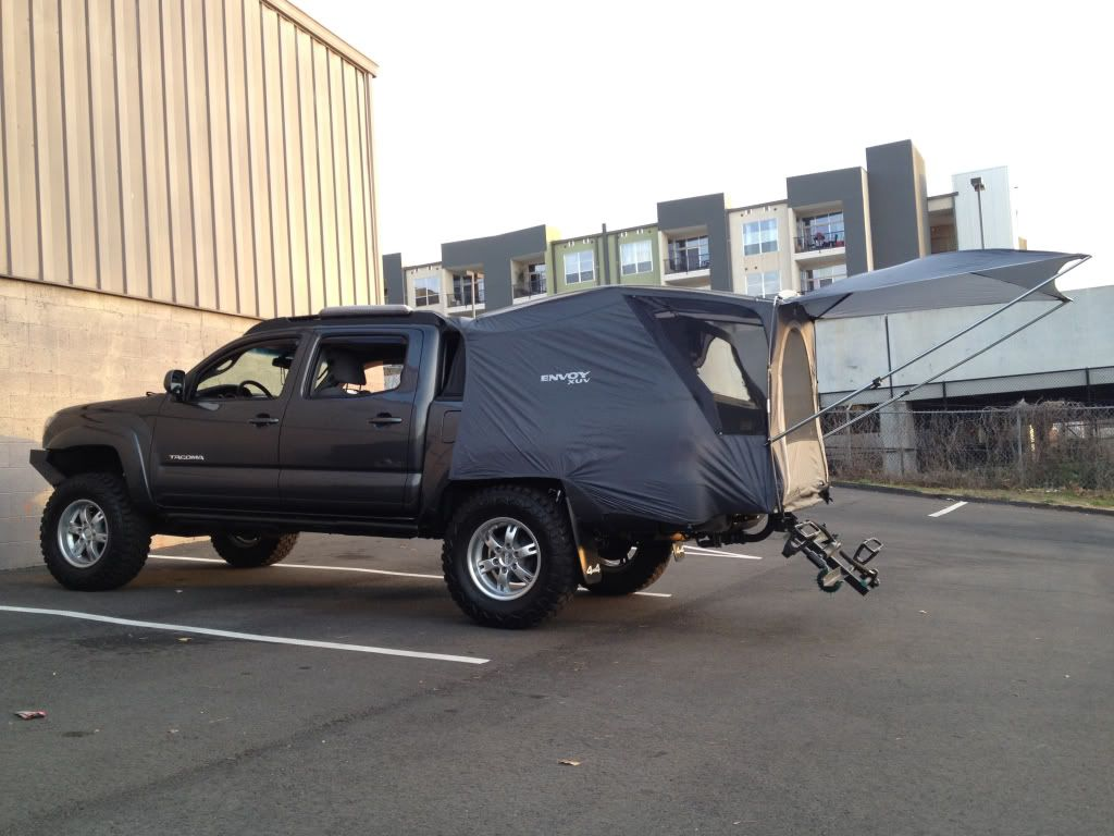 Tested my cheap truck tent today tacoma world forums