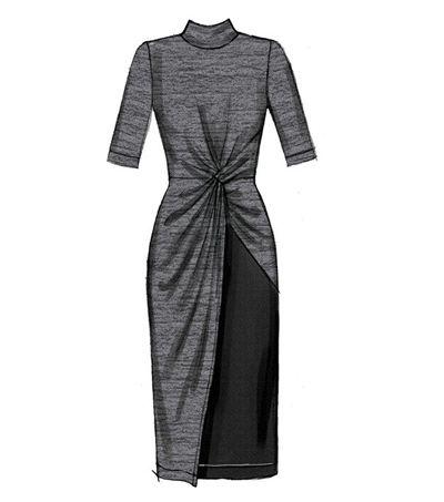 McCalls Pattern M7429 Misses Twist – Front Dresses