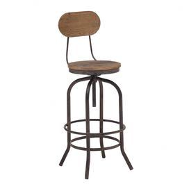 Adjustable Solid Elm Wood Bar Chair Product Bar Chairconstruction Material Elm Wood And Metalcolor Distresse Bar Chairs Eclectic Chairs Modern Bar Stools