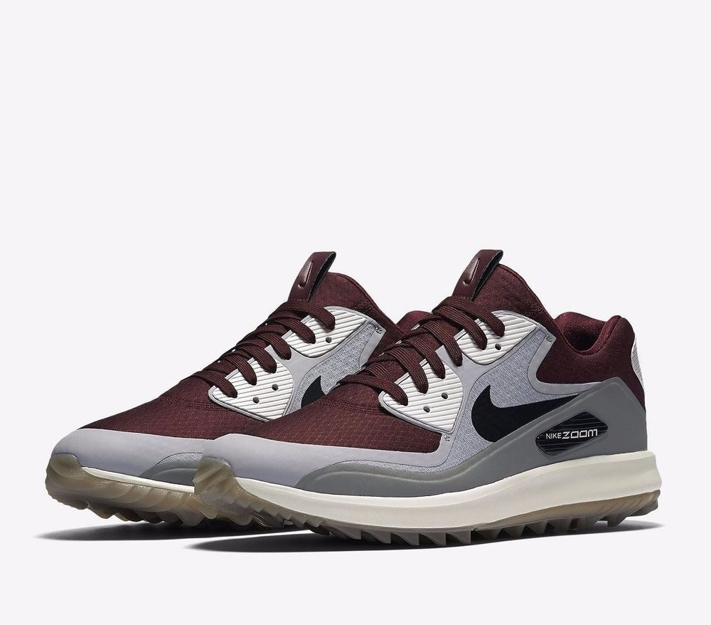 d8416e55247 Nike Air Zoom 90 IT Mens Golf Shoes 14 Maroon Grey White 844569 600 Rory  McIlroy  Nike