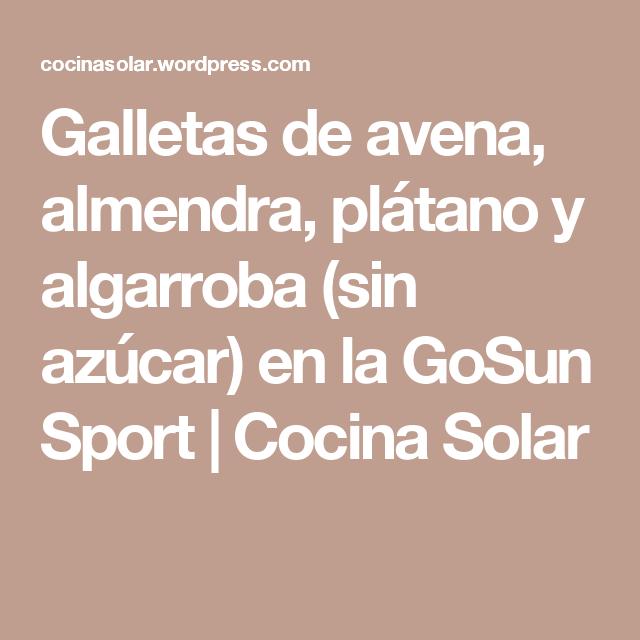 Galletas de avena, almendra, plátano y algarroba (sin azúcar) en la GoSun Sport   Cocina Solar