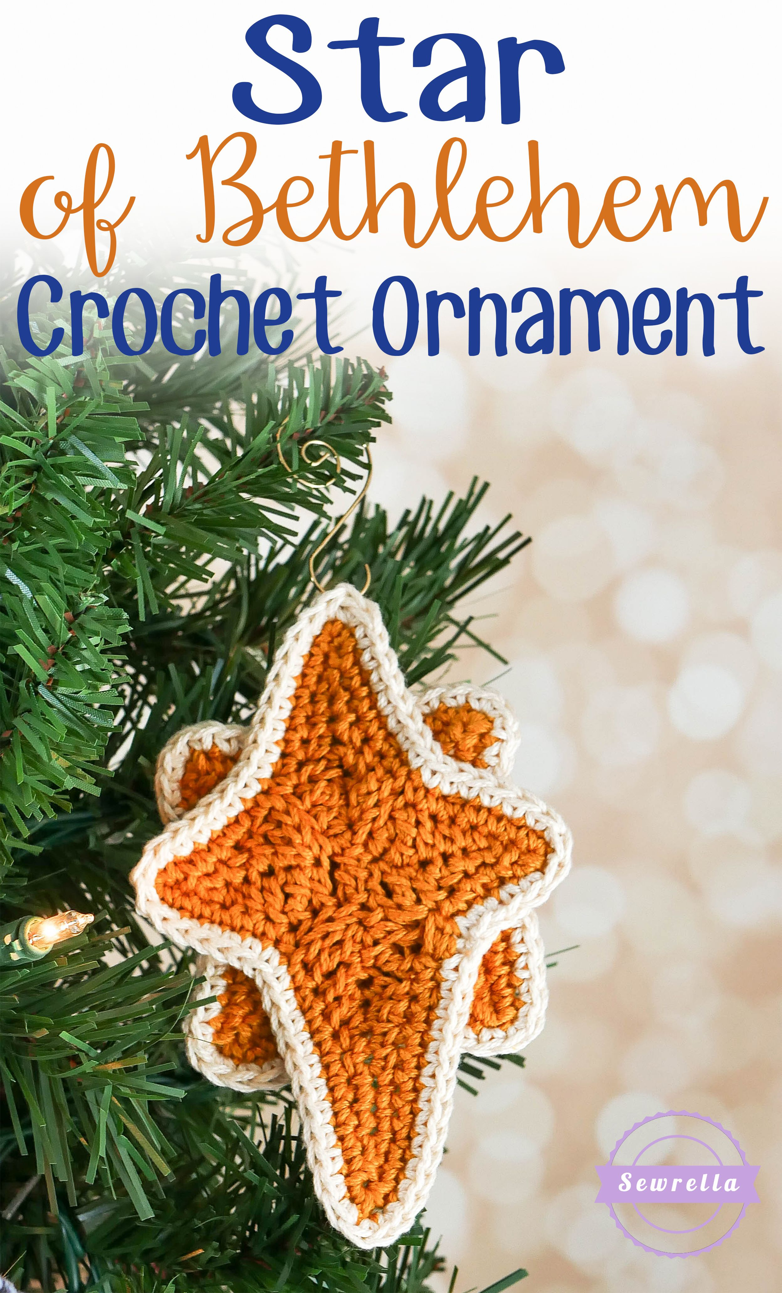 Star Of Bethlehem Crochet Ornament - 25 Days Of Christmas