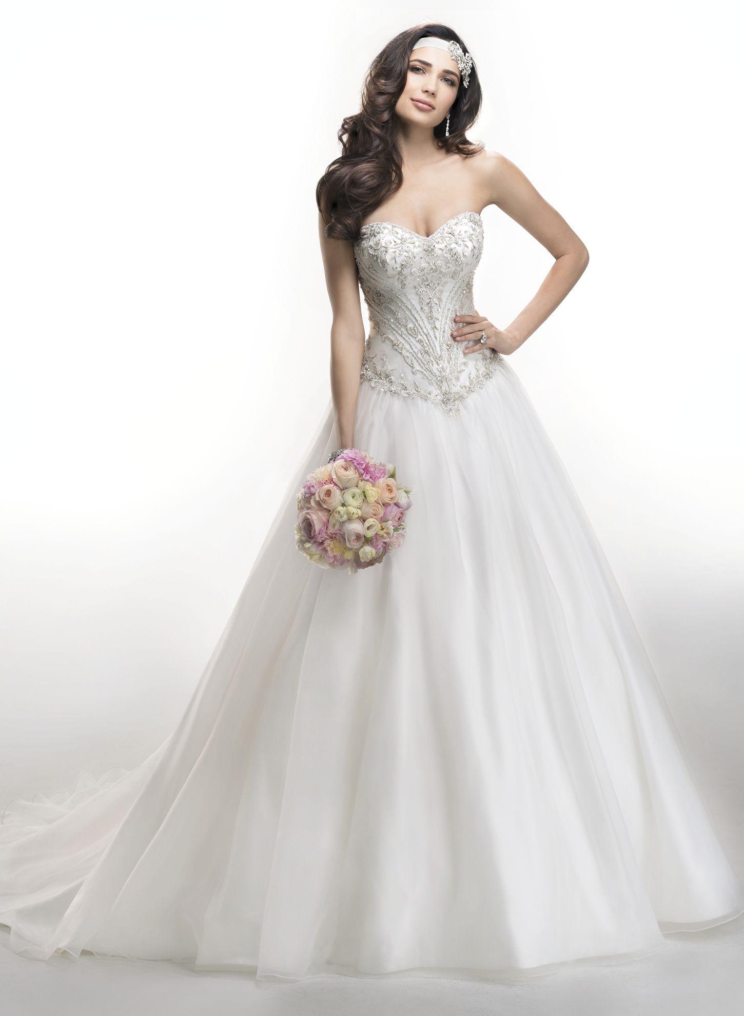 Wedding dress beaded back  Maggie Sottero Wedding Dresses  Maggie sottero Wedding dress and