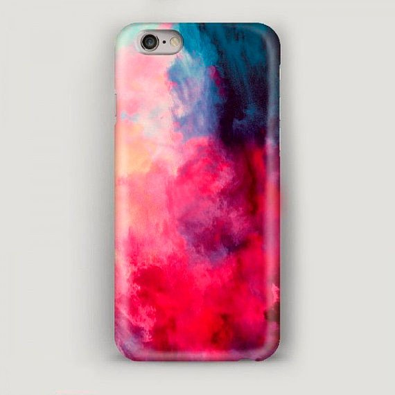 Colorful Smoke Iphone 6 Plus Case Abstract Iphone 6 Case Red