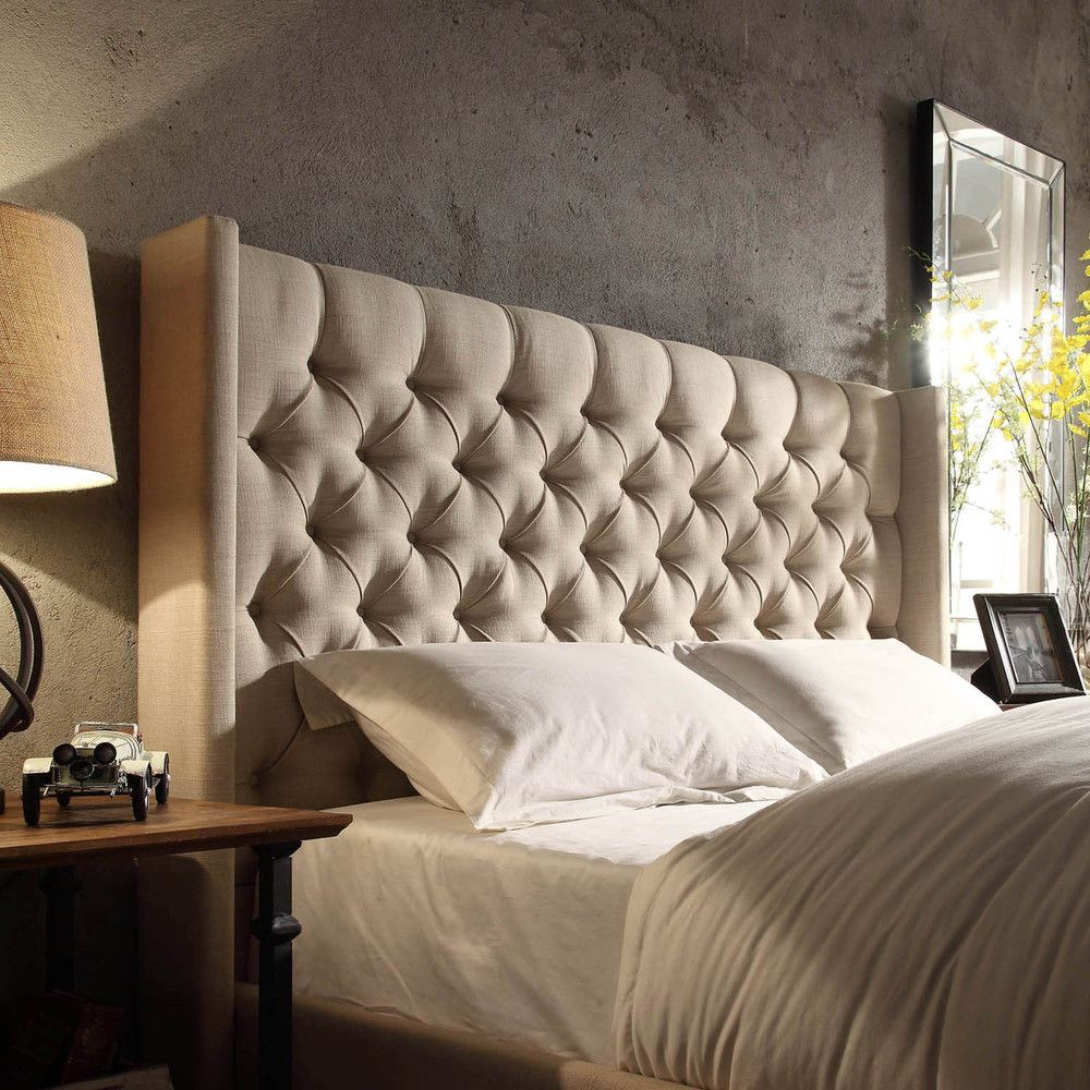 Naples Wingback Button Tufted Upholstered King Headboard By Inspire Q Artisan By Inspire Q