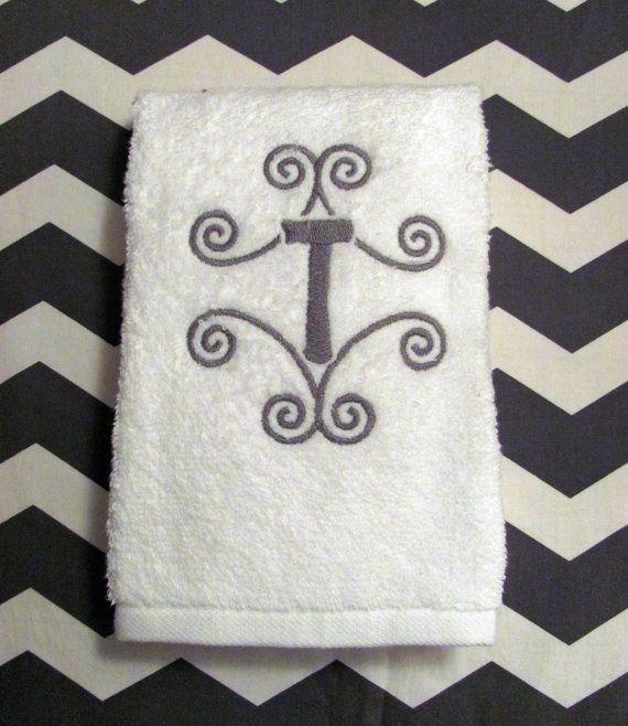 Monogrammed Hand Towel For The Bathroom Chasetee We Need Cs - Monogrammed hand towels for small bathroom ideas