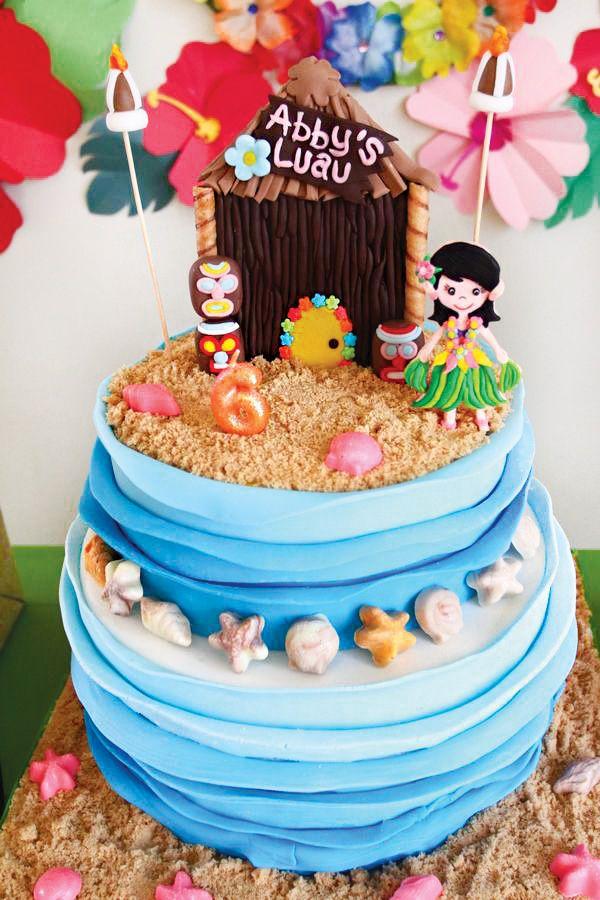 Tropical Oasis Hawaiian Luau Birthday Party #hawaiianluauparty