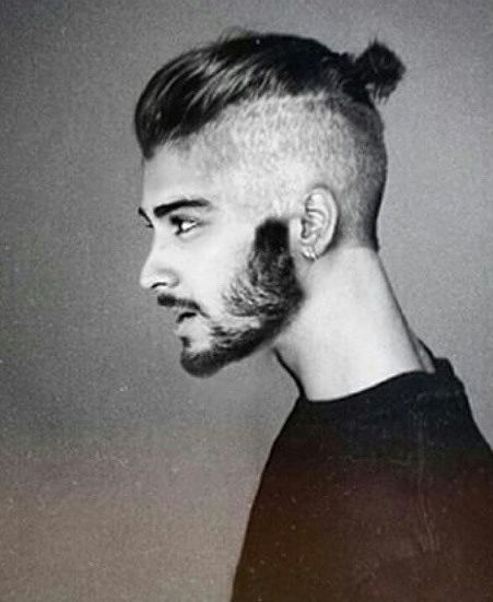 Zayn Malik Undercut Hairstyle with Man Bun and Beard , Man Bun .
