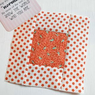 """Block 44 - Daisies Daisies Everywhere.  Another version of the Simple Square block.  (Tutorial for both 6"""" and 12"""")."""