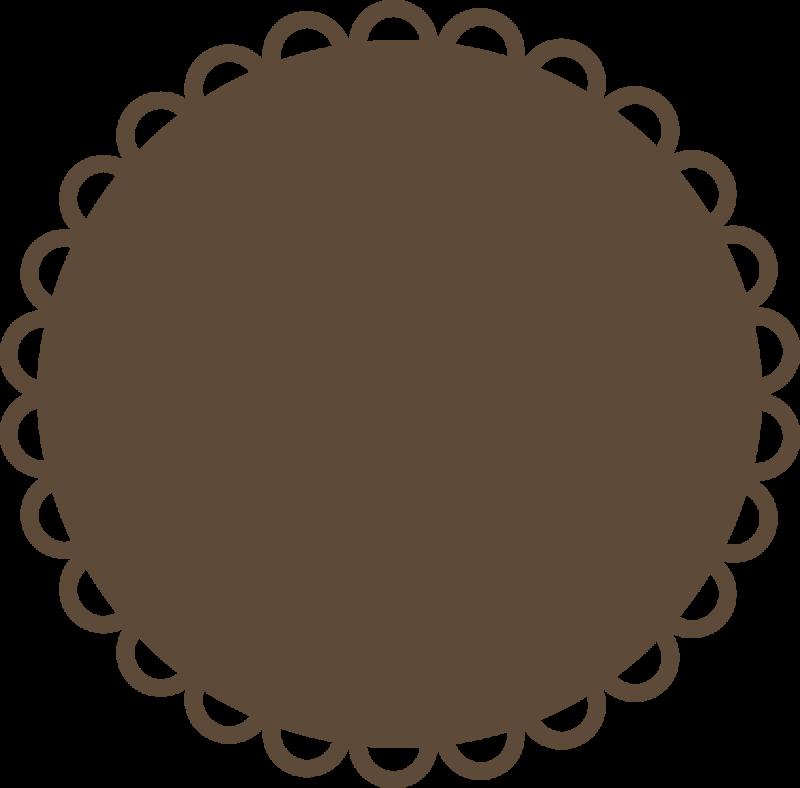 Circle Scallop Svg File Svg Files For Scrapbooking Cute Svg Files Clip Art Borders Silhouette Stencil Clip Art