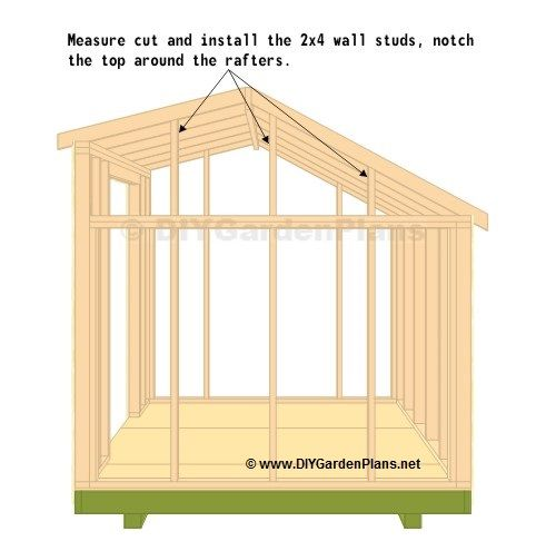 Top Wall Studs Small Shed Plans Shed Design Shed Plans