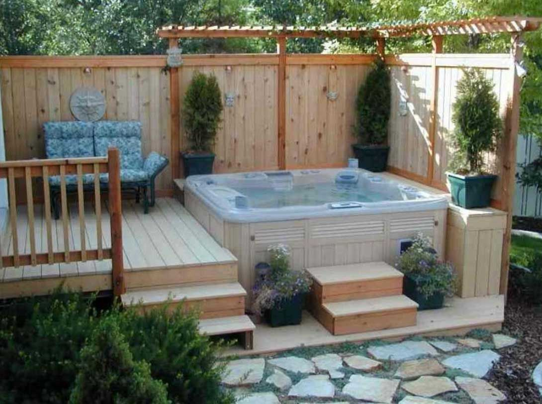 11 Some Of The Coolest Designs Of How To Makeover Hot Tub Backyard