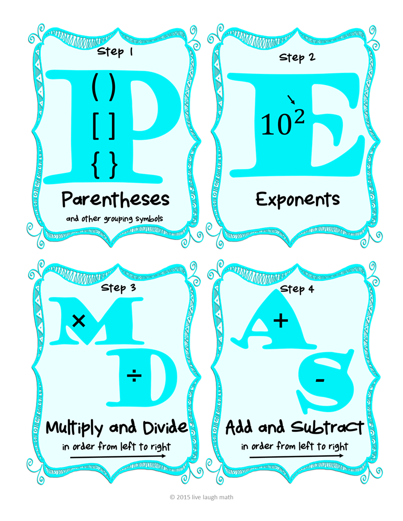 Order of Operations FREEBIE- Reference Sheet - Fix My Mistakes ...