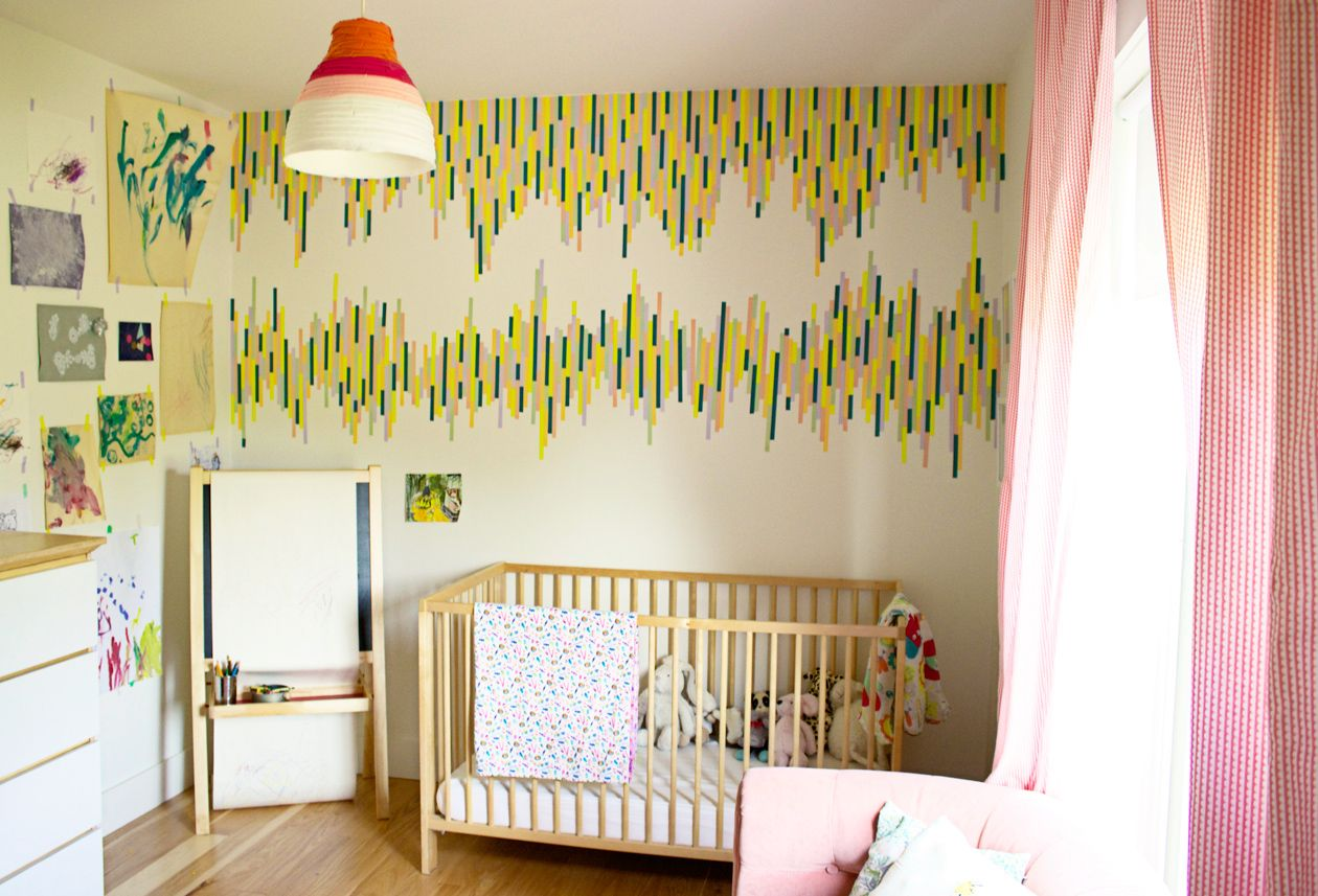 WASHI TAPE WALL TUTORIAL http://thesymmetric.com/ | BettySummer ...