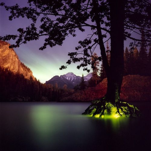 Photographer Barry Underwood Alters Landscapes With Light Installations