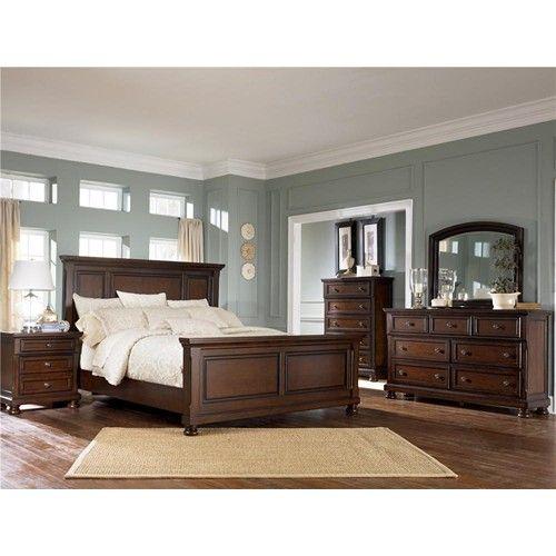 Porter King Panel Bed By Ashley Furniture At Wayside Furniture Bedroom Set Traditional Bedroom Sets Rustic Bedroom Furniture Sets