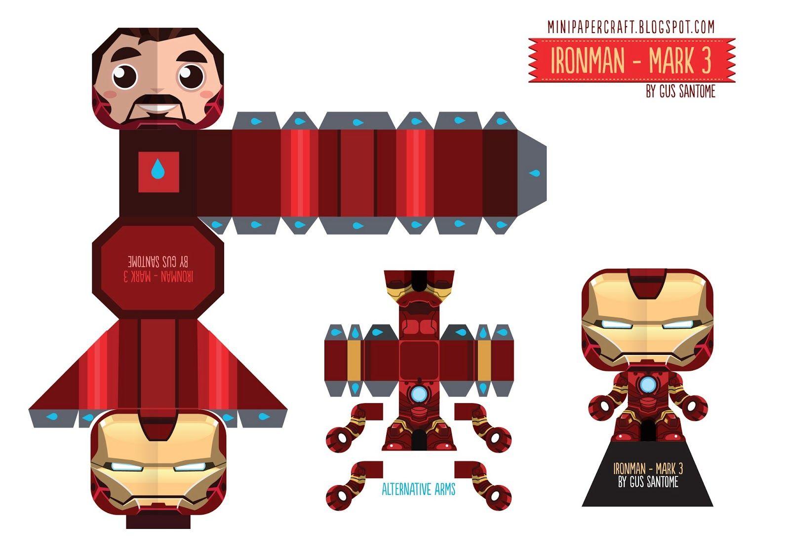 Mini Papercraft  Superheroes Plegado De Papel 0c54e84a0f9
