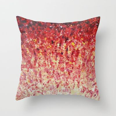 Hypnotic Sunrise Stunning Sunset Pink Magenta Peach Crimson Bright Red Cream Throw Pillow By