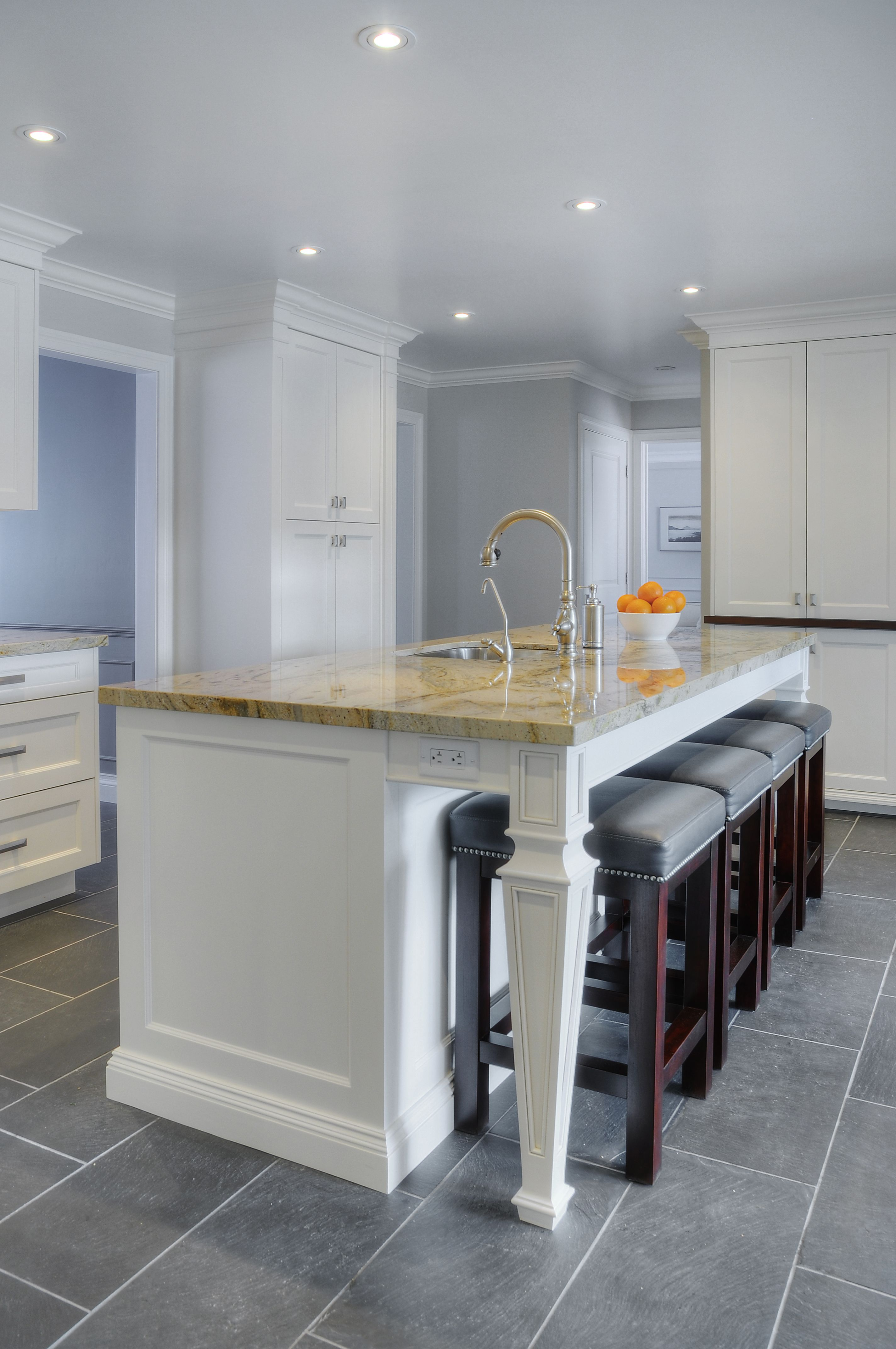 """KITCHEN Painted """"Hampshire"""" style custom in"""