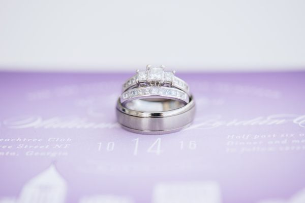 Gorgeous Rooftop Wedding At The Peachtree Club In Atlanta Rooftop Wedding Wedding Ring Sets Engagement Rings