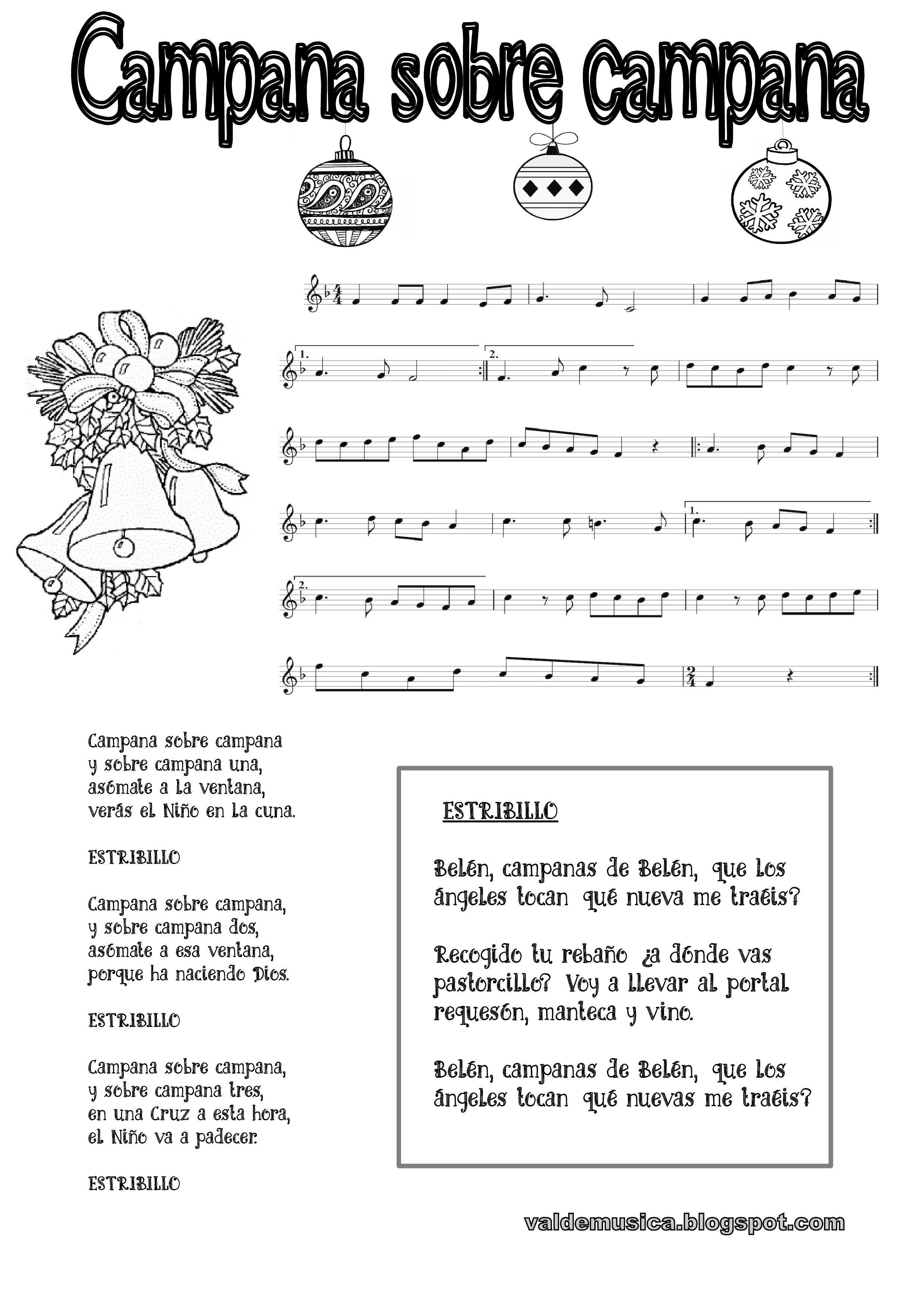 Campanas Sobre Campanas Villancico Villancicos Navideños Actividades De Educación Musical