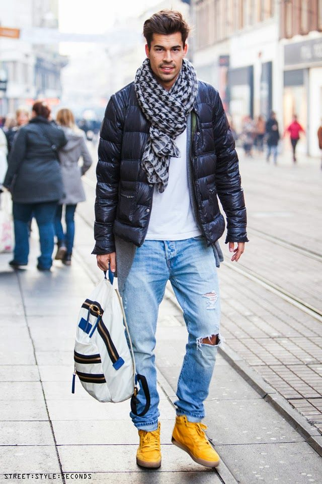 latest  man s winter  fashion outfit  inspirations Street Style Seconds 1bfe5bd73e36