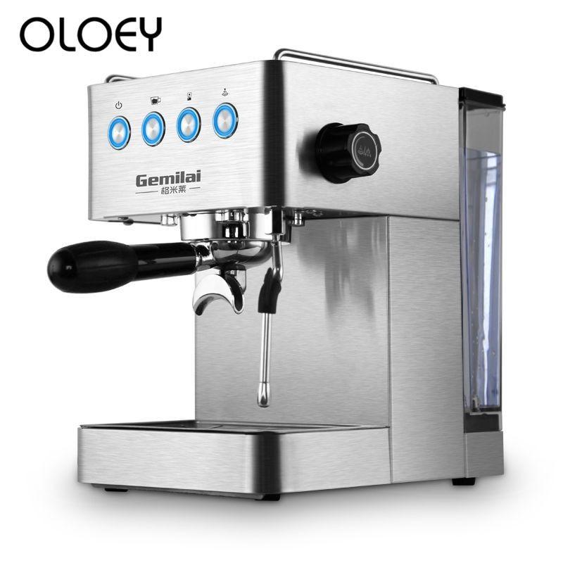 Coffee Machine Home Italian Full Semi-automatic Steam Pump Pressure Type 1.7L large Capacity #automaticcoffeemachine