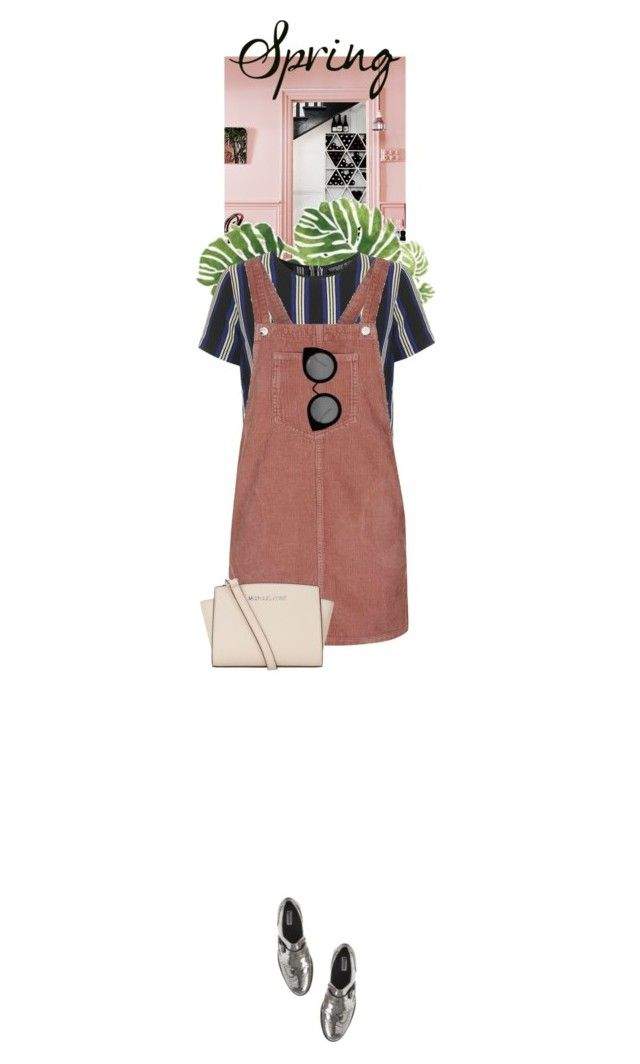 """""""Spring Dress"""" by dancingwithyou ❤ liked on Polyvore featuring Topshop, Quay, MICHAEL Michael Kors and springdress"""
