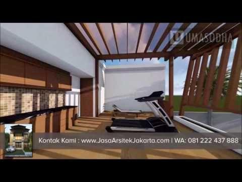 desain rumah megah double facade luas 570 m2 gaya bali