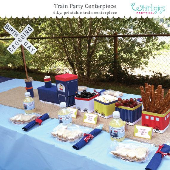 DIY Train Party Centerpiece Printables