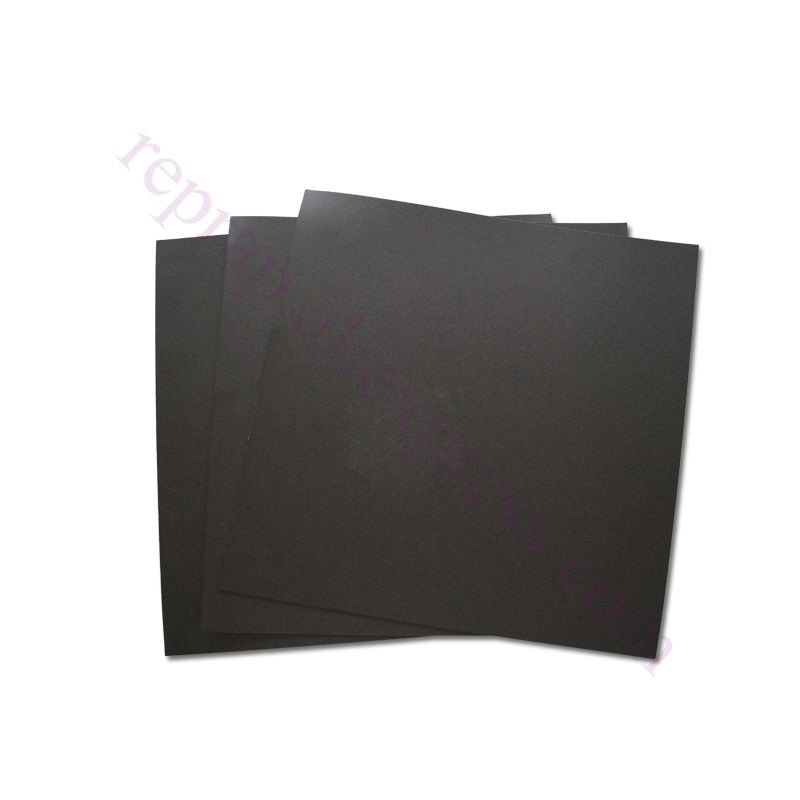 5pcs With 3M Backing 200x200mm Black Frosted Heated Bed Sticker Build Sheet  Build Plate Tape For 3D Printer