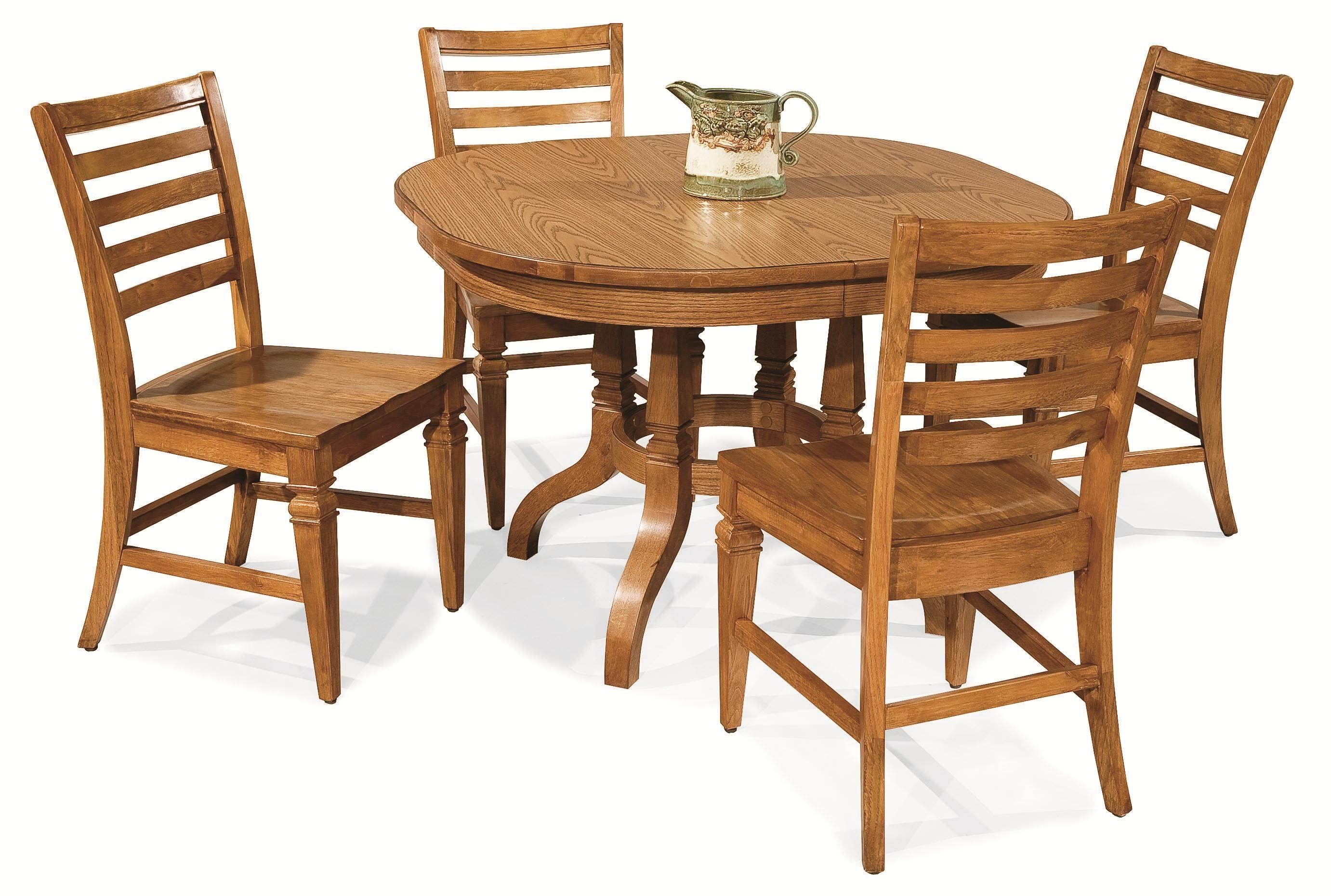 Dura Dine 5 Piece Laminate Top Pedestal Table Set By Chromcraft Barrow Fine Furniture Dining Mobile Dothan Alabama Pensacola Florida