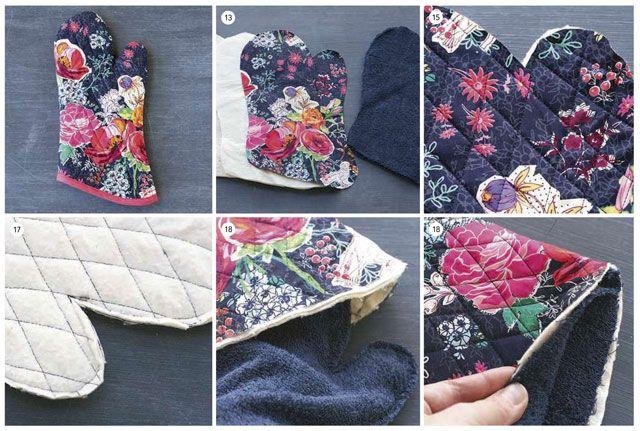 Pattern tack gloves / Выкройка прихватки рукавицы