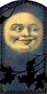vintage moon face - Google Search