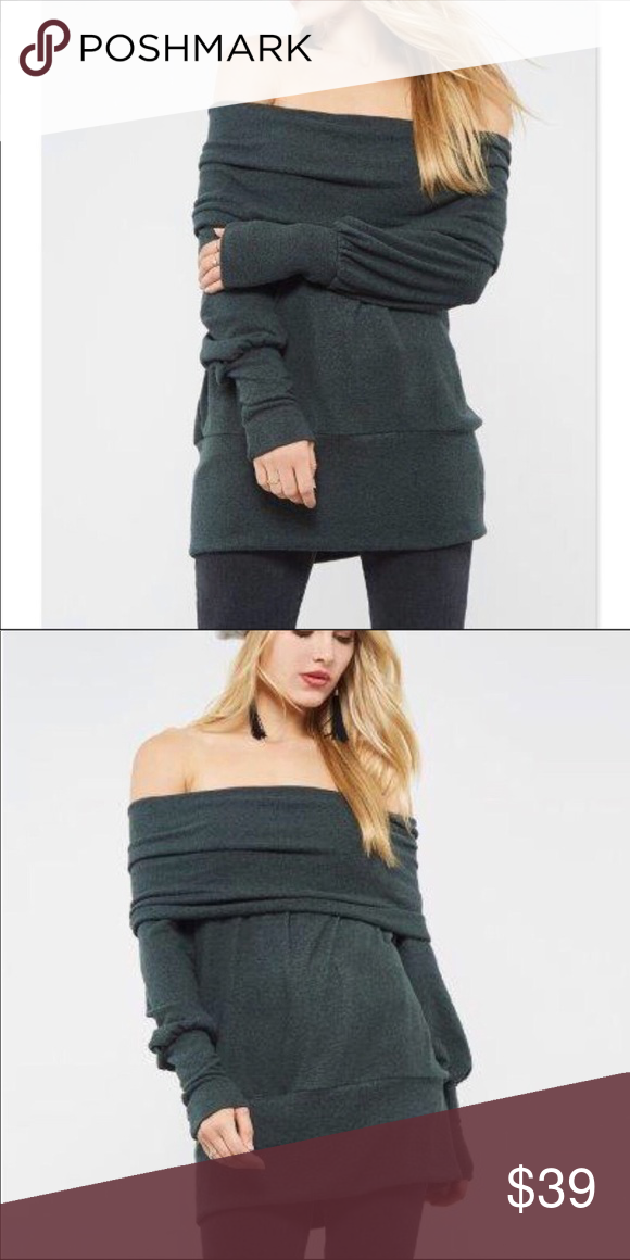 1661b24dd0 💐OLIVE OFF-THE-SHOULDER SWEATER OLIVE OFF-THE-SHOULDER SWEATER An