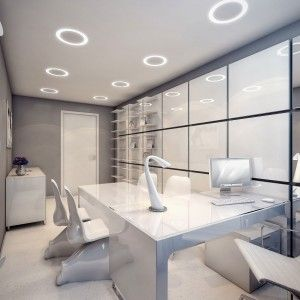 Mesmerizing futuristic surgery clinic interiors design for Office design of the future