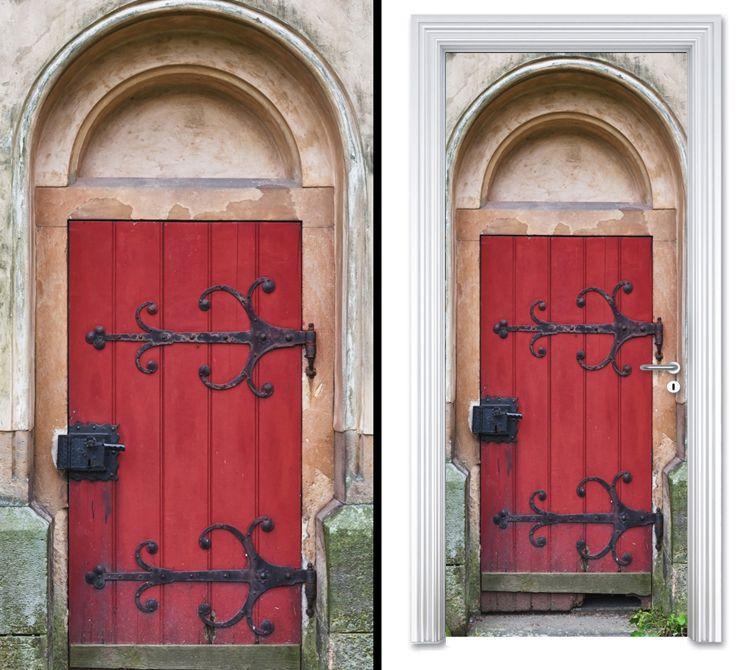 Sticky Decoration Door Stickers Red Door Decor