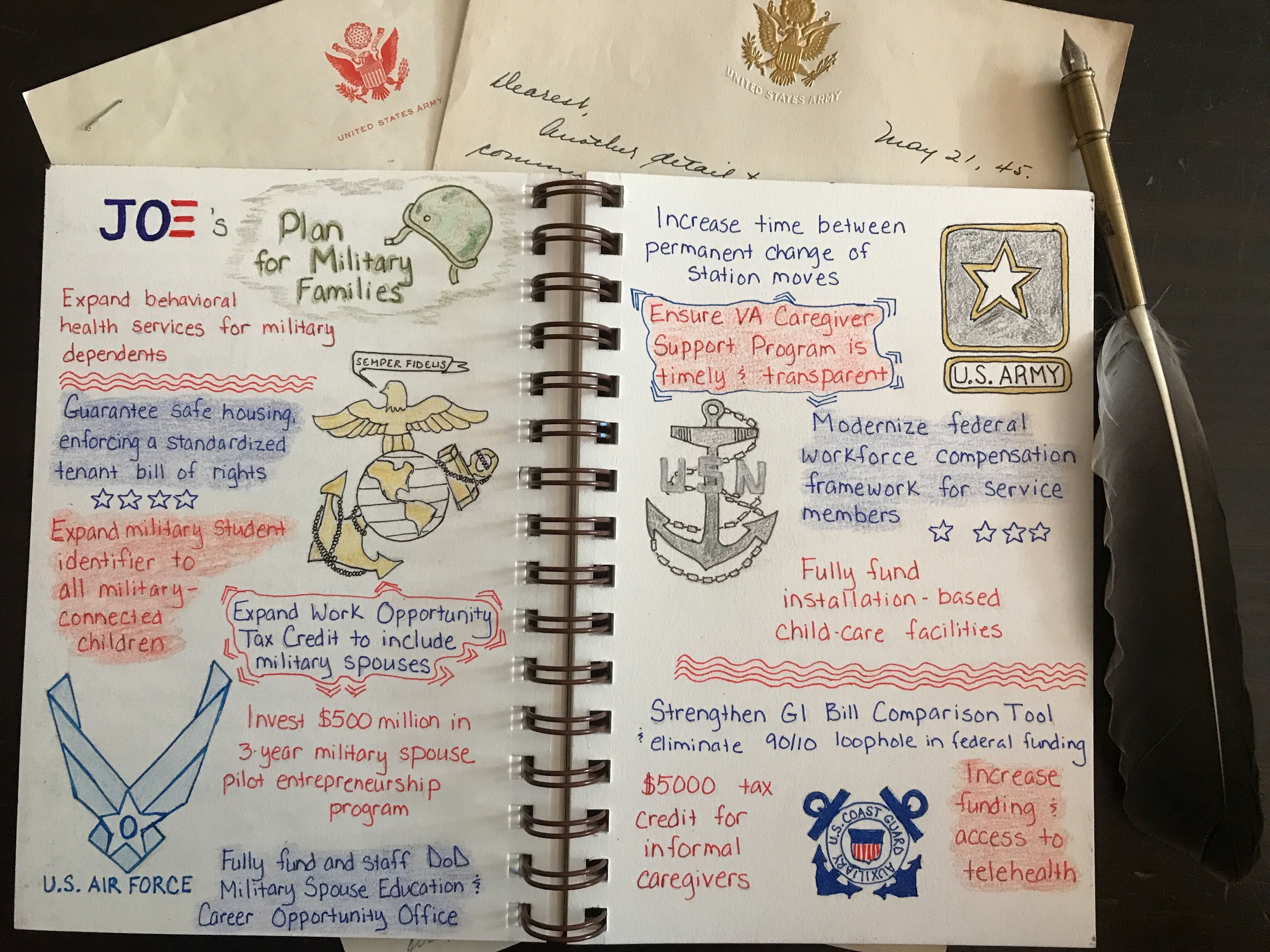 Plan To Fulfill Our Commitment To Military Families Joe Biden Bullet Journal Journal How To Plan