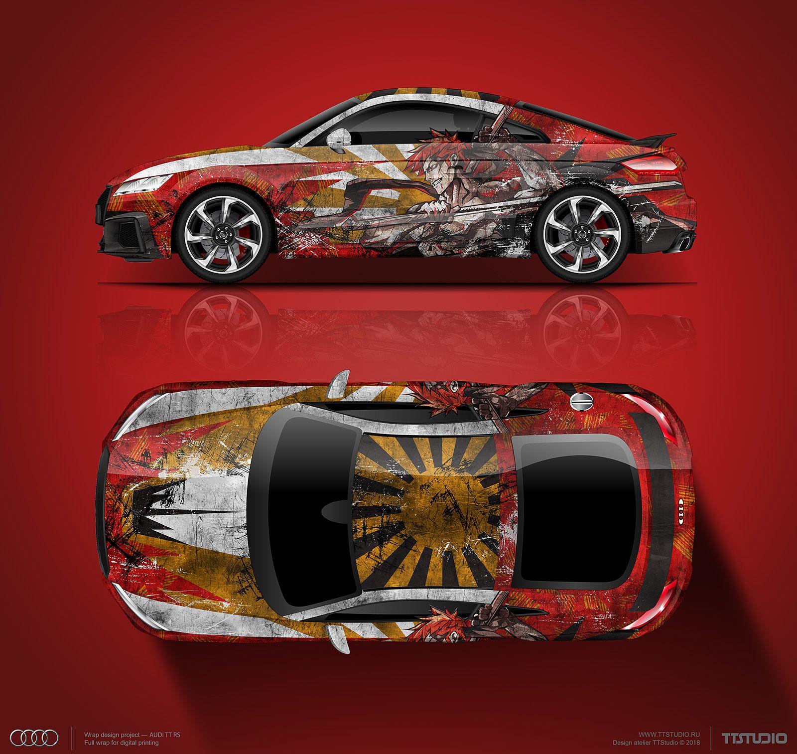 Wrap Design Concept For Audi TT RS Samurai 🎎 For Sale (can