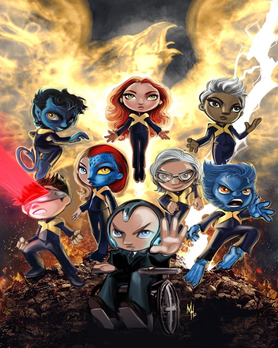 X Men On Instagram X Men Dark Phoenix Phoenix Mystique Storm Nightcrawler Cyclops Quicksilver Beast And Professor X Nightcrawler Dark Phoenix X Men