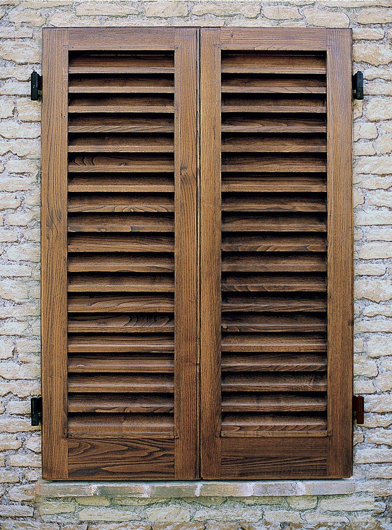 cmb infissi persiana storica in legno massello di castagno