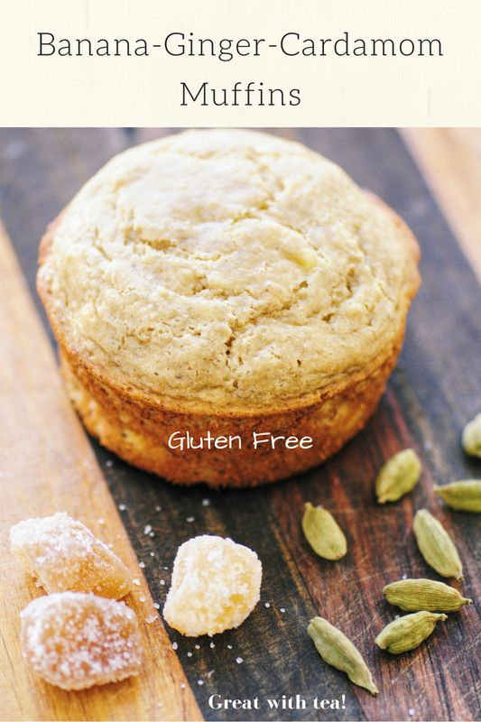 Banana-Ginger-Cardamom Muffins (Gluten Free)